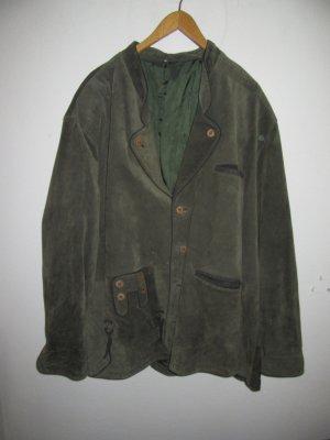 schöne Lederjacke Tracht Vintage Retro grün
