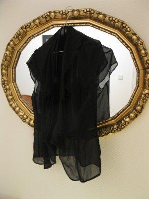 Schöne, leicht durchsichtige Seidenbluse aus matter Seide v. exklusiver Modedesignerin, D34-36