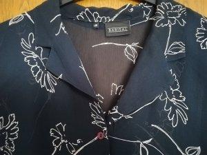 Schöne leichte Bluse dunkelblau mit weiß - wie neu! - Gr. 48