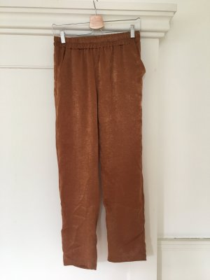 7/8 Length Trousers brown polyester