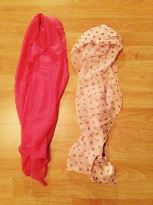 Sciarpa di seta rosa antico
