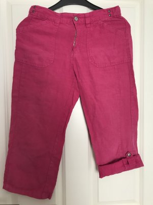 Angels Pantalon en lin rose-rouge framboise