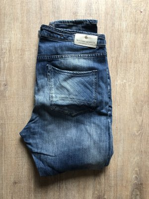 Maison Scotch Boyfriendbroek staalblauw