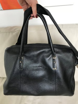 Marc Picard Laptop bag black leather
