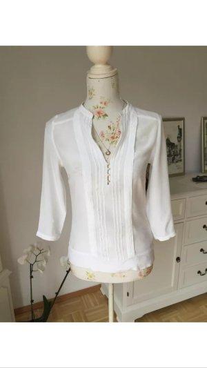 Schöne Massimo Dutti Bluse in Weiß XS, Nur 1 Mal getragen, Neuwertig