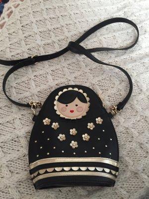 Accessorize Gekruiste tas zwart-goud
