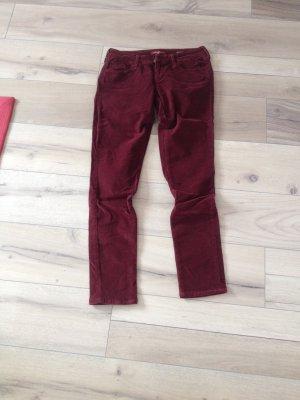 Mavi Pantalone di velluto a coste bordeaux Cotone
