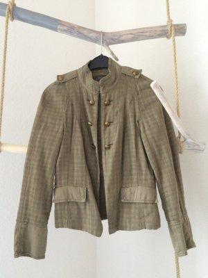 Zara Veste militaire multicolore coton