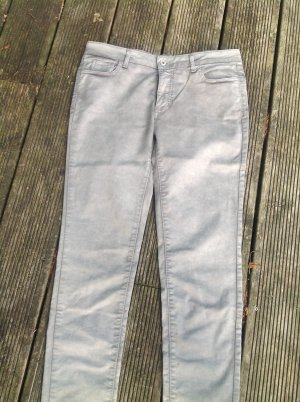 Pantalon cigarette argenté tissu mixte