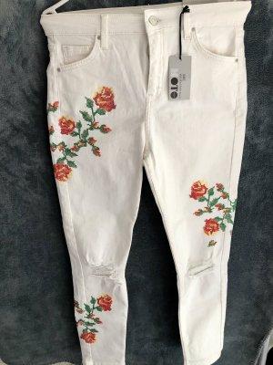 Nakd Hoge taille jeans wit