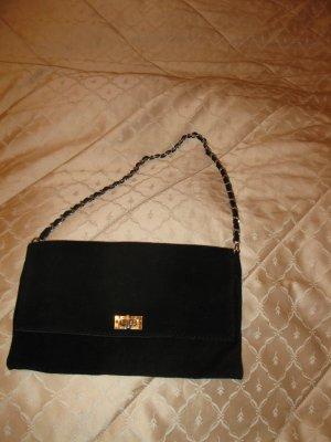 Schöne, neue, schlicht elegante Wildleder Tasche in Schwarz,