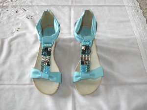 Sandalo outdoor azzurro-celeste Finta pelle
