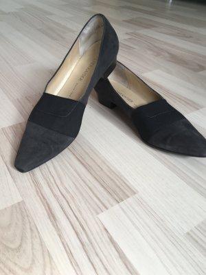 Peter Kaiser Pantofola grigio scuro-nero Scamosciato