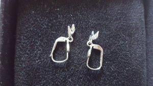 Schöne Pferdekopf Ohringe aus Silber