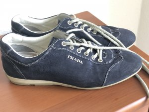 Schöne PRADA Schuhe aus Leder, dunkelblau