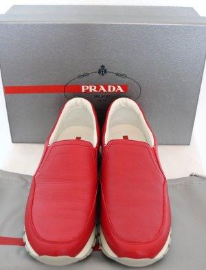 "Schöne Prada Sneaker ""Calzature Donna"" - Gr. 37 - NEU mit Karton! - Leder - rot"