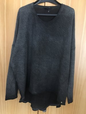 Cotton Candy Long Sweater anthracite-dark grey cotton