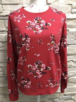 H&M Sweatjack donkerrood-roze