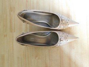 5th Avenue High Heels light brown imitation leather