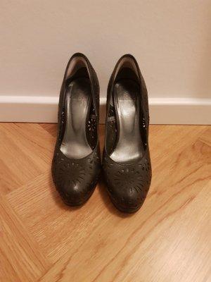 Alba Moda High Heels black leather