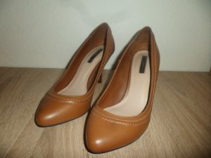 Zara High Heels brown imitation leather