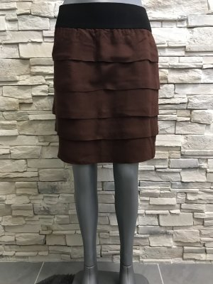 Zara Broomstick Skirt black-brown