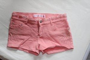 Schöne rosa Hotpants/ kurze Hose mit Strasssteinen, Gr. 36/38
