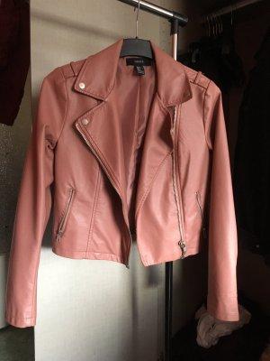 Schöne rosa Lederjacke