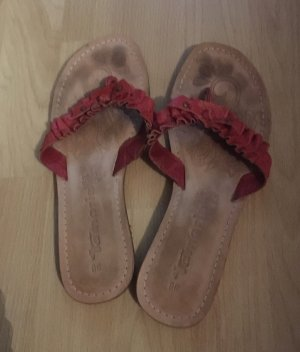 Tamaris Mules red