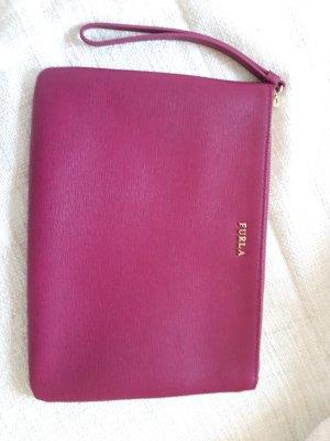 schöne rote Furla Tasche Clutch Classy