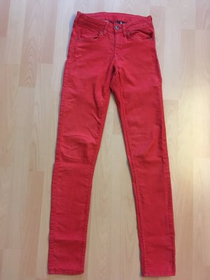 H&M Divided Stretch Trousers red mixture fibre