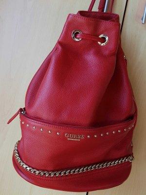 Schöne roter Guess Rucksack