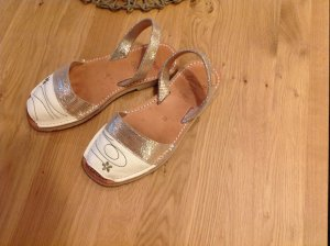 Beach Sandals natural white-sand brown leather