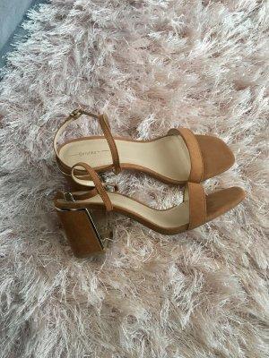 Bershka Clog Sandals camel