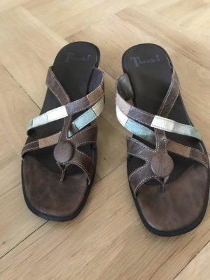 Think! Sandalias de tiras marrón-turquesa
