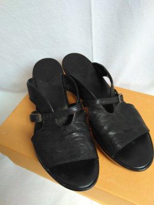 schöne Sandalen High Heels echt Leder!