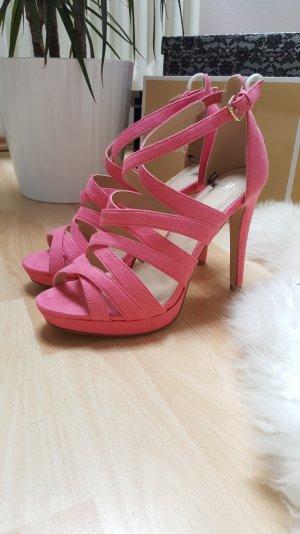 schöne Sandalen High Heels in Pink/Rosa