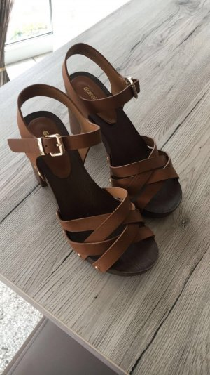 Graceland Wedge Sandals brown-light brown