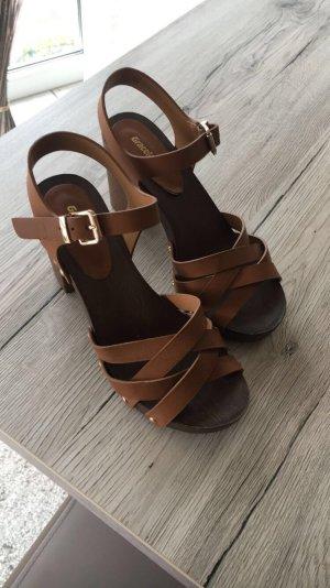 Graceland Wedge Sandals brown-light brown