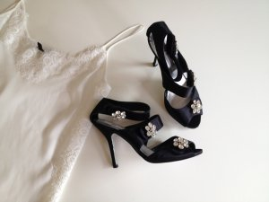 Mango High-Heeled Sandals black-silver-colored