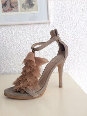 Zara High Heel Sandal grey-rose-gold-coloured suede