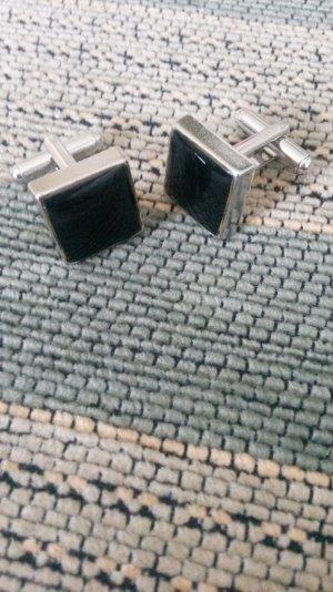 Schöne schicke schwarze Manschettenknöpfe!