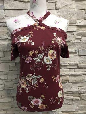 Terranova Batik shirt bordeaux-lichtroze
