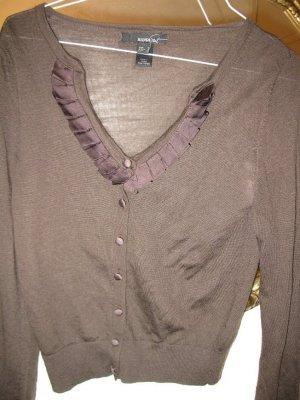 Schöne, schlicht elegante Strickjacke in Dunkelbraun von Mango, D36, EU M, wie neu