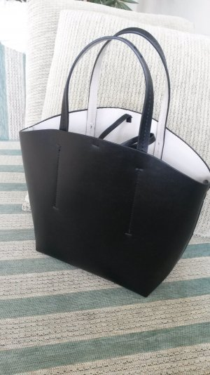 Shopper white-black