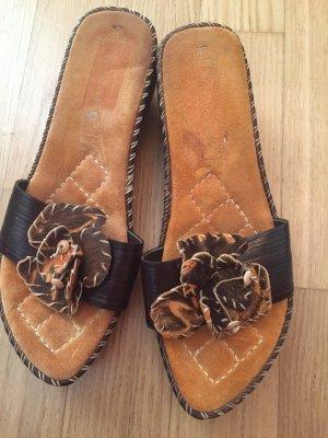Tamaris Sandalias cómodas marrón oscuro-marrón