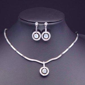Zilveren ketting wit-zilver