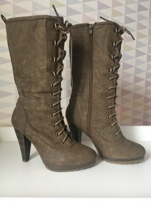 Heel Boots grey brown
