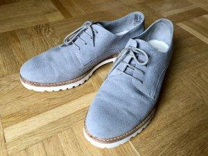 Tamaris Chaussure de travail gris clair-gris cuir