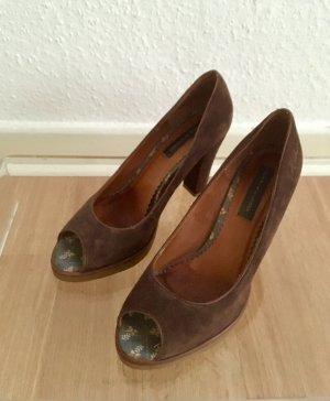 Schöne Schuhe Pumps / Peeptoes von Tommy Hilfiger 38 Leder